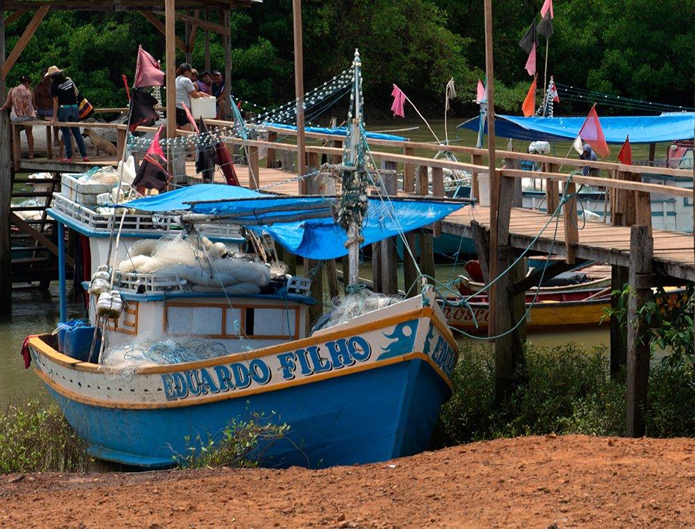 Resex Gurupi- Piriá, imagem de barco de pesca na Resex Gurupi- Piriá