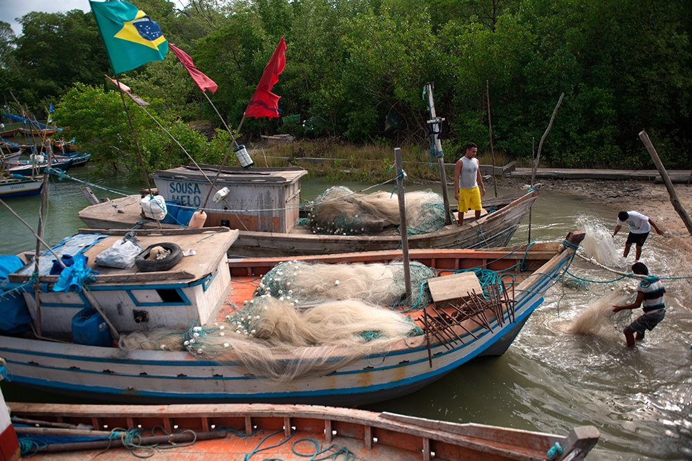 Resex Caeté Taperaçu, imagem de barcos de pesca
