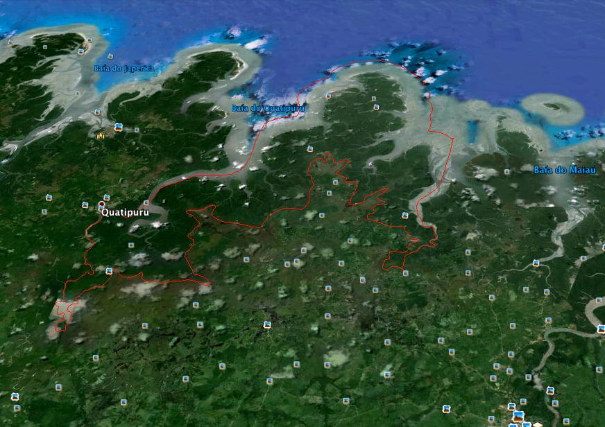 mapa-resex marinha de Tracuateua