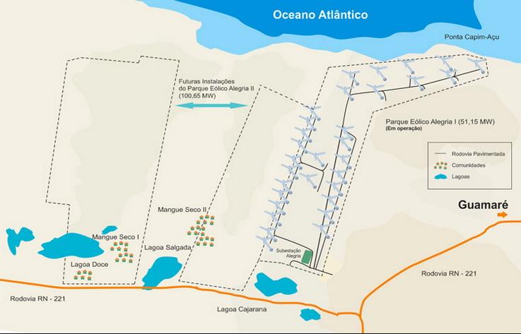 litoral, energia eólica, ilustração mostrando energia eólica no litoral