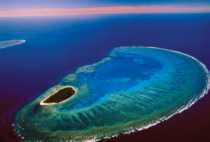 A importância dos corais, imagem de ilha-e-coral austrália