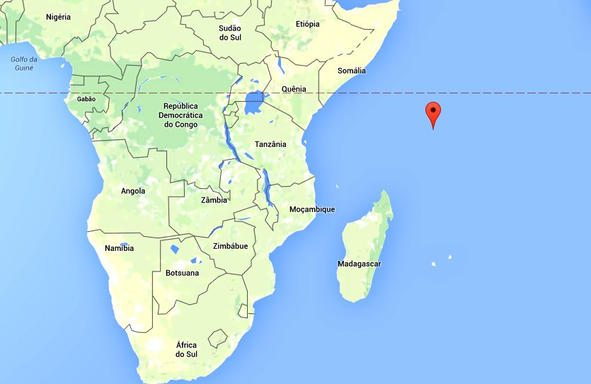 Reservas marinhas X dívida pública, mapa mostrando seychelles