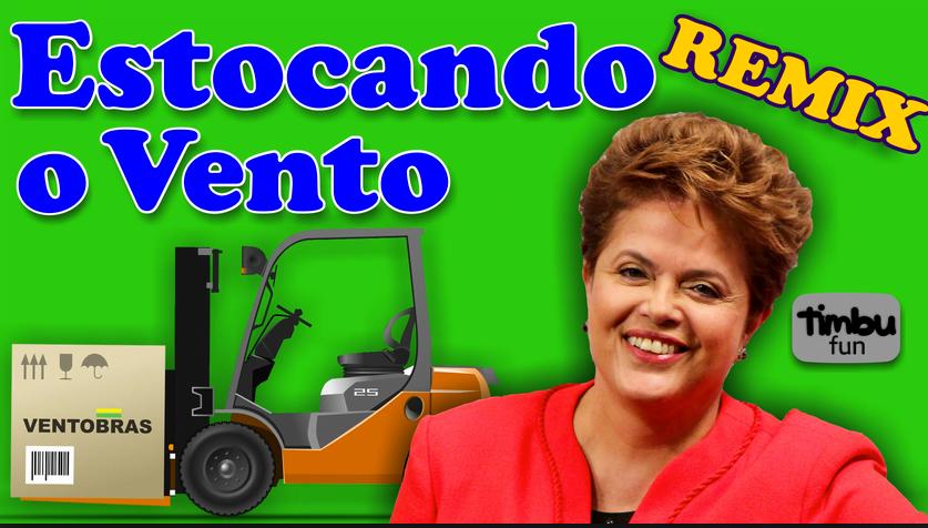 Mar Sem Fim, novidades no site, imagem de Dilma estocando vento