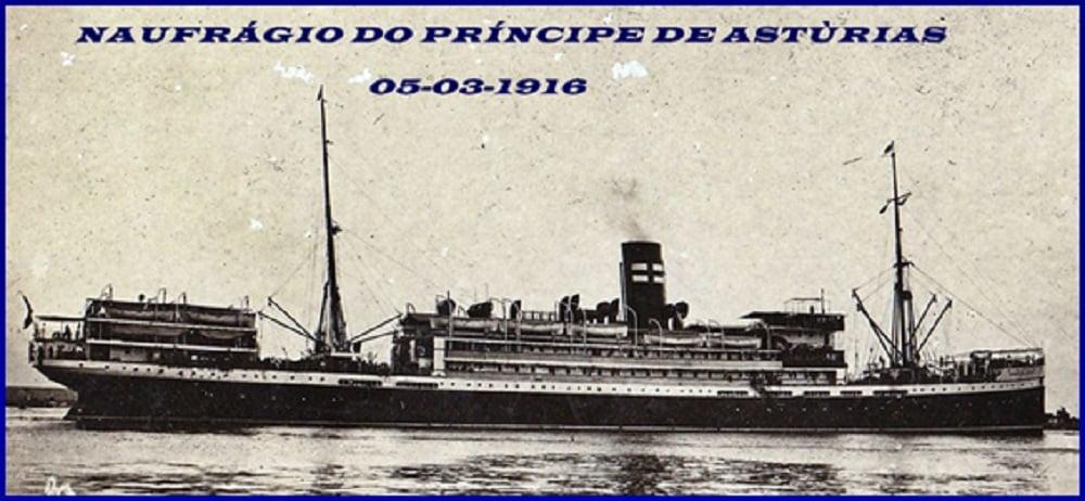 Naufrágios no Brasil, imagem do navio Príncipe-de-Astúrias