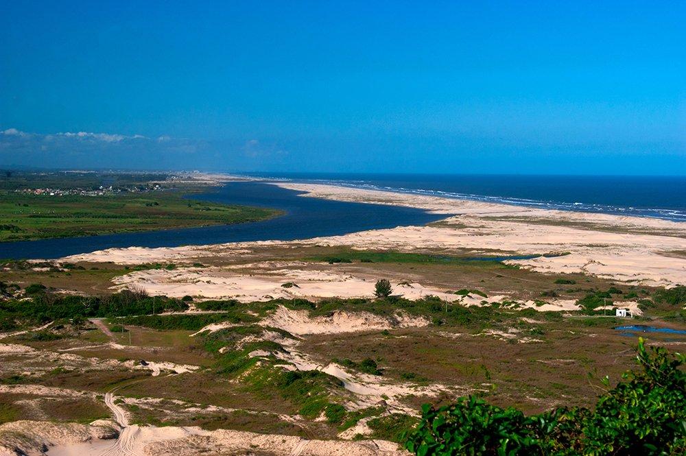 Colapso dos rios brasileiros, imagem do rio-Araranguá-sc