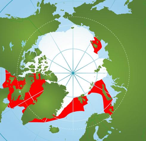 Baleia e o mito do Unicórnio, mapa do habitat do narval