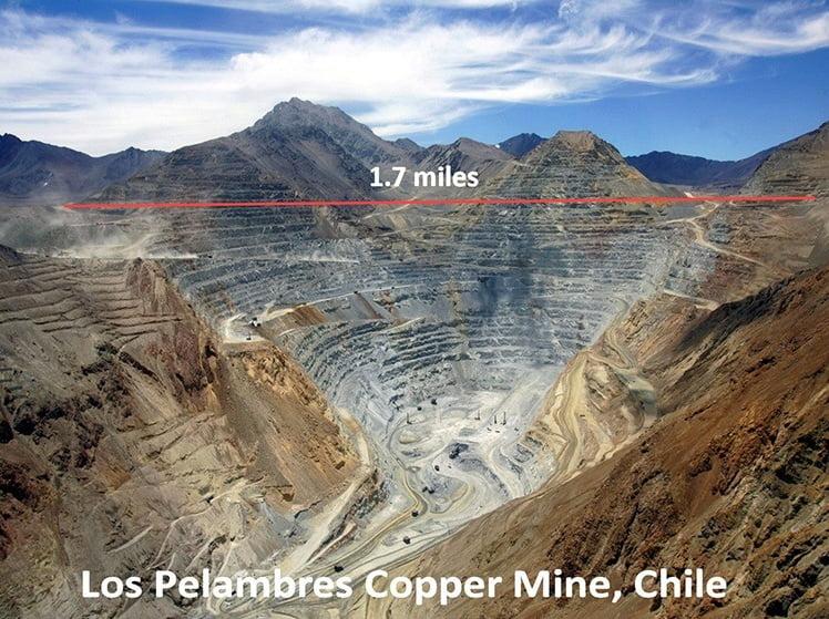 imagem da mina los-pelambres-chile, que despeja rejeitos nos oceanos