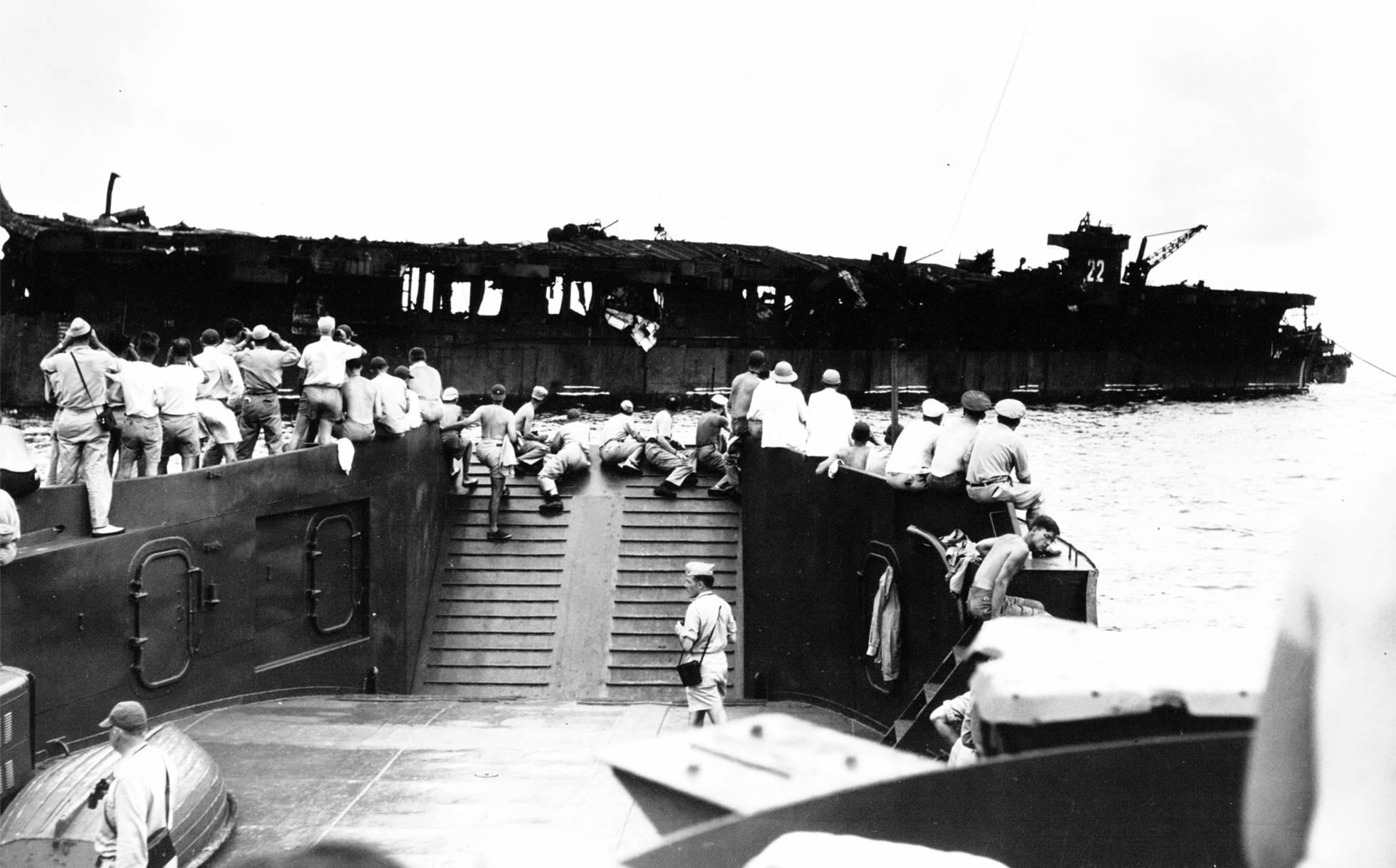 Encontrado naufrágio de bombas nucleares, imagem do US Independence