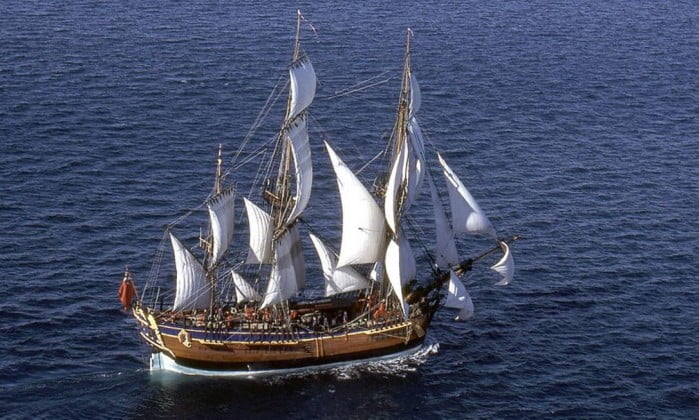 encontrado navio de James Cook, imagem do navio de james cook