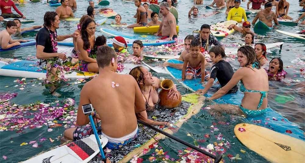 Fotos incríveis no mar, imagem de festival no mar