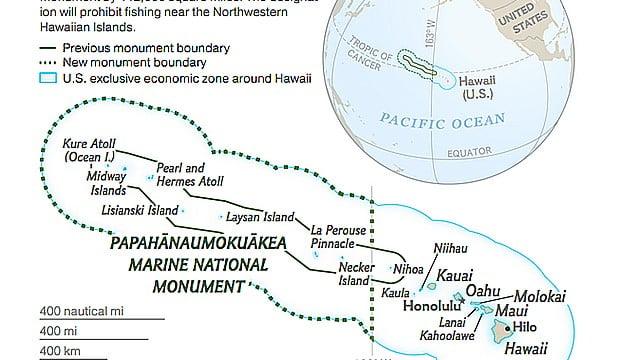 USA criam a maior reserva marinha da Terra