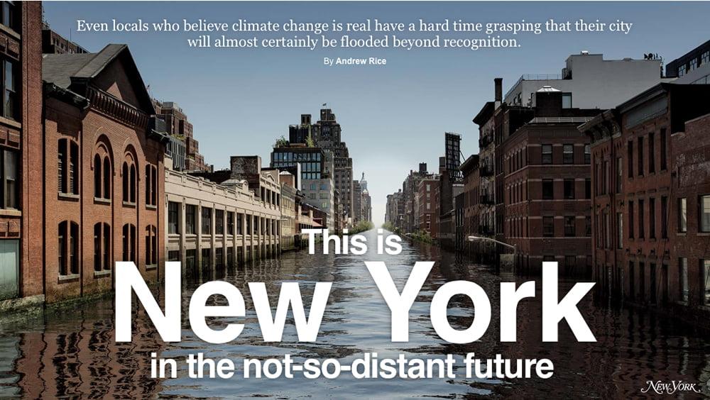 Oceanos, saúde no limite, imagem de capa da revista New York