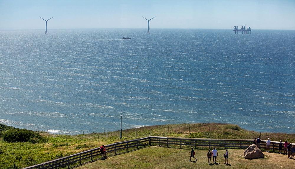 Energia eólica, o plano de Obama, imagem de turbinas eólicas em Rhode island