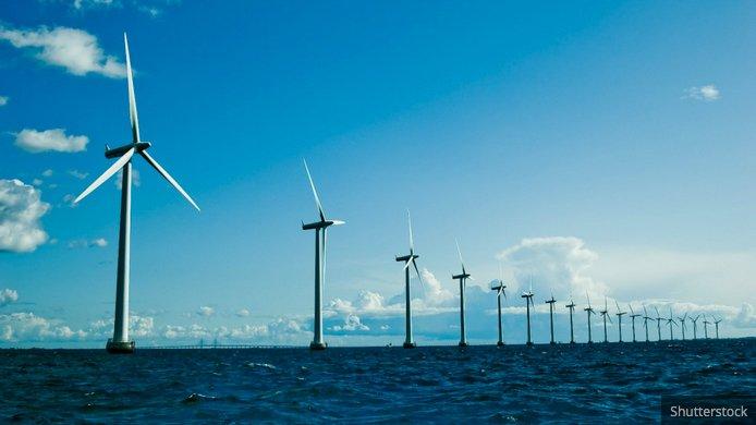 Energia eólica, o plano de Obama, imagem de turbinas eólicas no mar