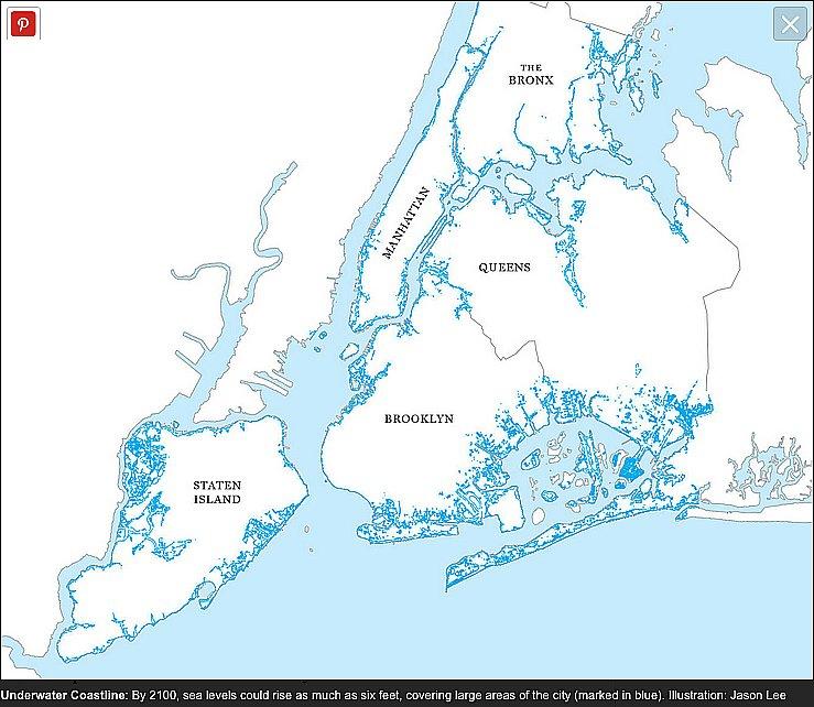 Oceanos, saúde no limite, imagem de mapa mostrando nova iorque