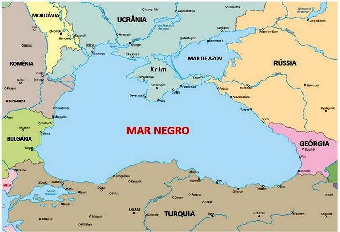 navio do século XIII, mapa do mar-negro