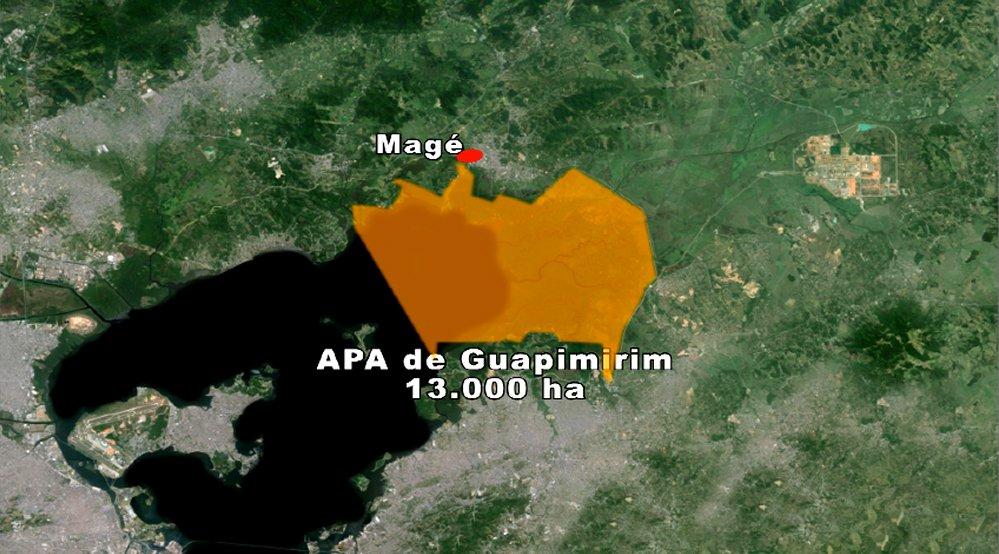 APA/ESEC Guapimirim, mapa-da-unidade de conservação APA/ESEC Guapimirim