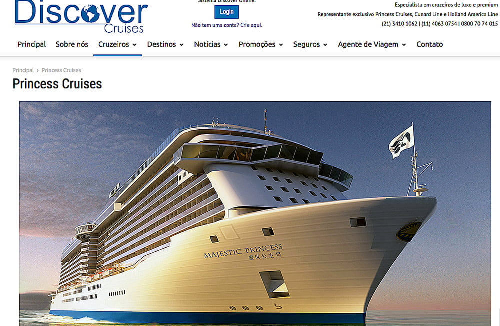 navio, imagem do navio Majestic Princess