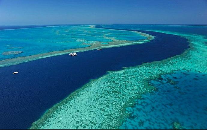 corais e aquecimento global, imagem da grande barreira de corais