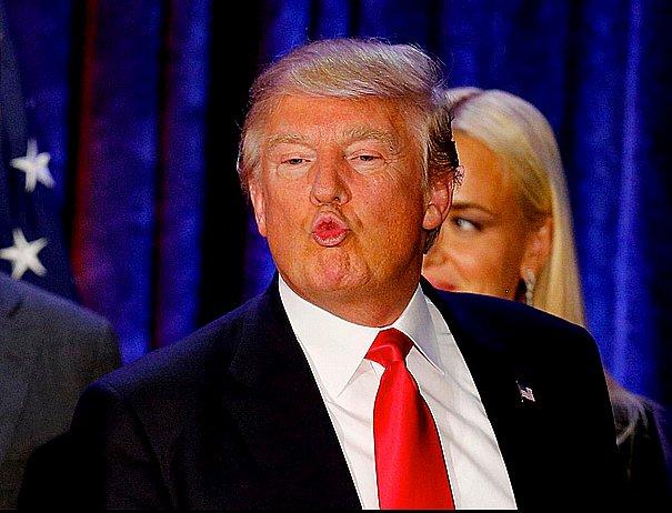 Aquecimento global 2016, imagem de Donald Tramp mandando beijinho