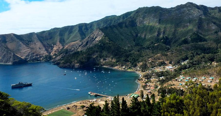Mar de Juan Fernandez, imagem da ilha Juan Fernandez