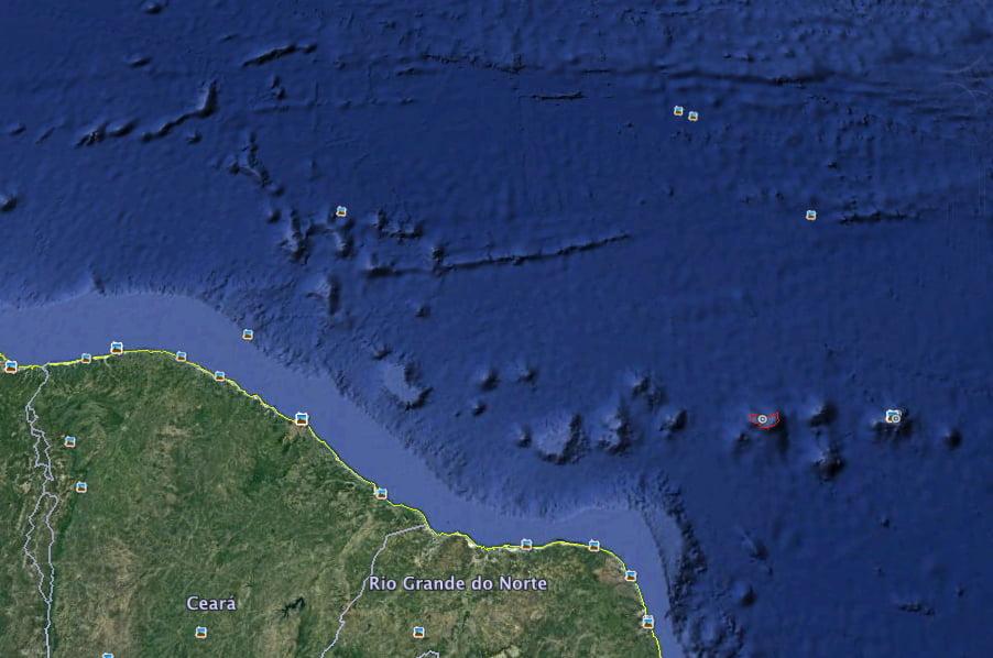 Atol das Rocas, mapar do atol das rocas