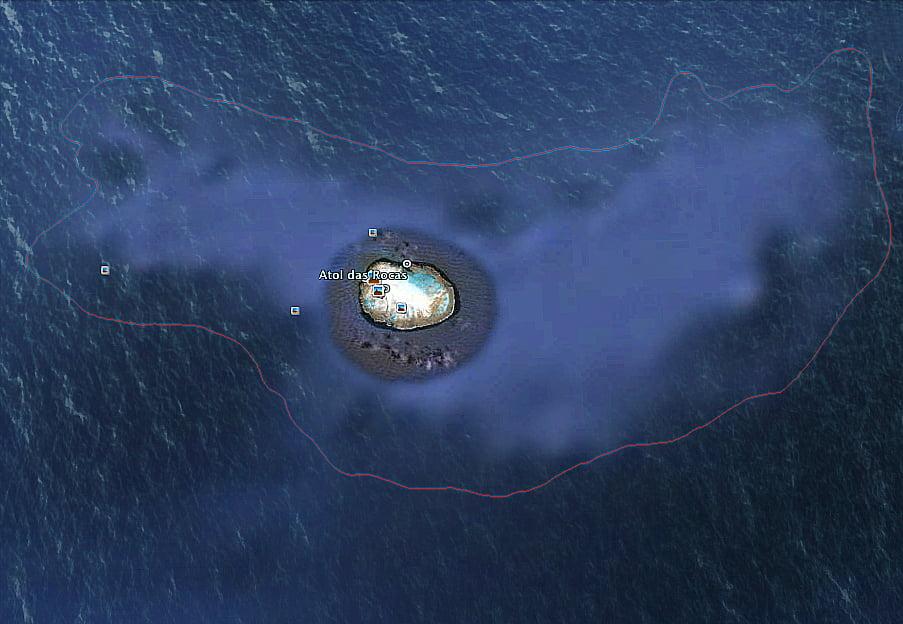 Atol das Rocas, mapa da rebio atol das rocas