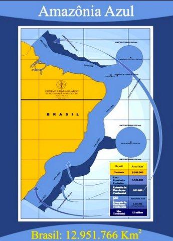 Ilhas do Atlântico Sul, ilustração mostrando a amazônia azul