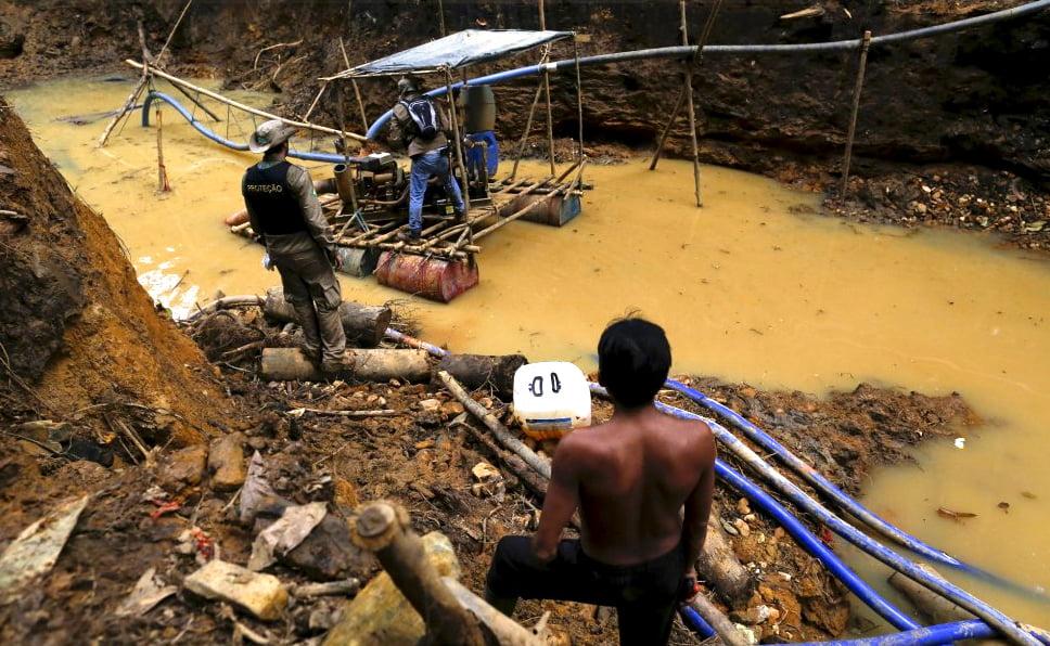 garimpo-de-ouro-na-amazônia, imagem de garimpo na amazônia