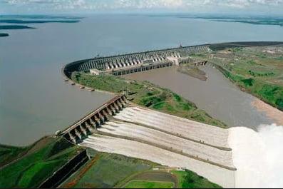 garimpo,ilustração mostrando usina de Belo Monte