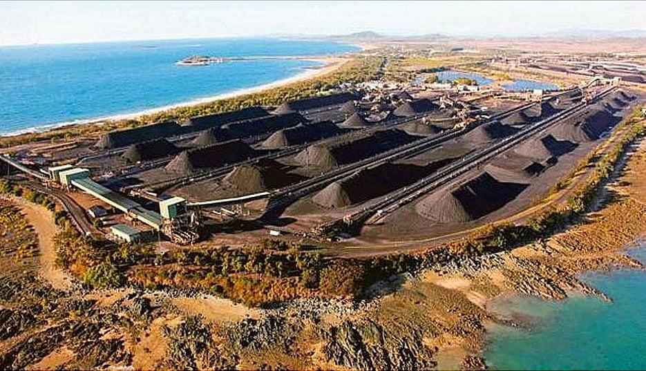 Grande Barreira de Corais, imagem da mina de carvão de queensland