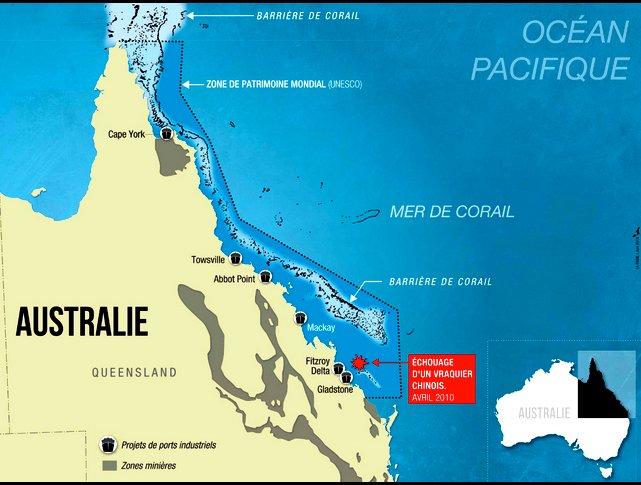 Grande Barreira de Corais, ilustração do novo terminal australiano Abbot Point