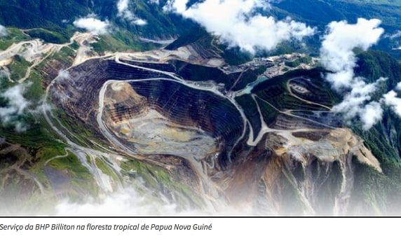 Rio Doce, imagem de mineração da BHP Billiton em Papua Nova Guiné
