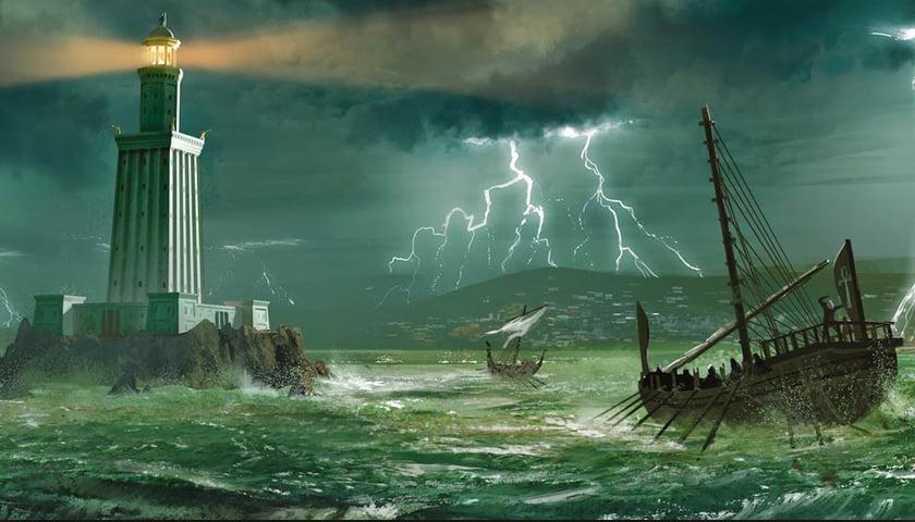O Farol de Alexandria, ilustração do O Farol de Alexandria