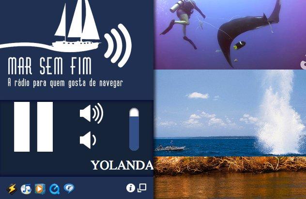 Rádio Mar Sem Fim pra quem gosta de navegar, folder da rádio mar sem fim