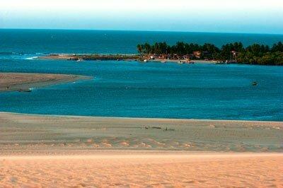 Dez motivos para conhecer o melhor da costa brasileira, imagem da foz do rio mundaú