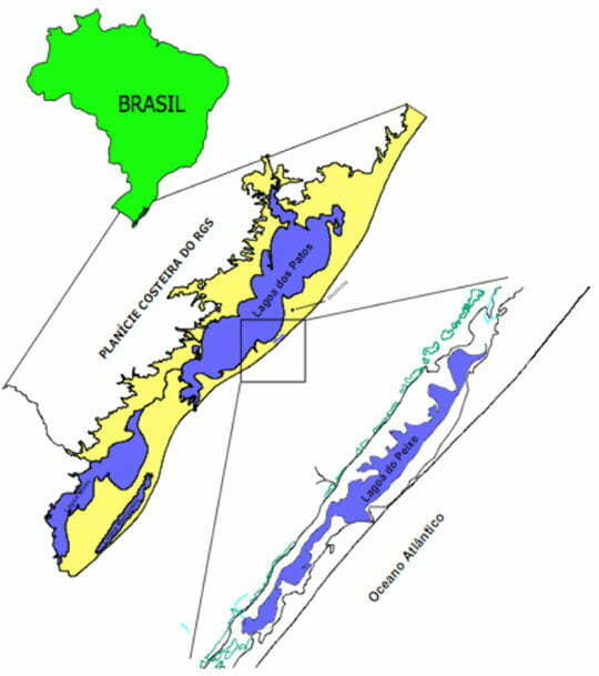 Parque Nacional da Lagoa do Peixe, RS, mapa da localização da Lagoa do Peixe, RS