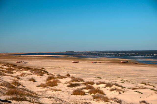 Estação Ecológica do TAIM, Cena da praia da Capela, nas margens da Lagoa Mirim, RS