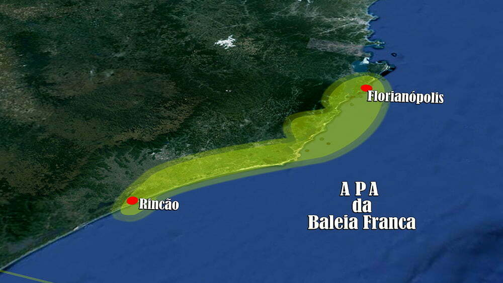 MAPA da APA da Baleia Franca, Sta Catarina