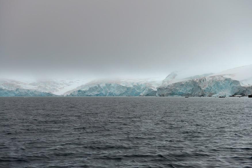 Chegando na geleira da ilha Nelson.