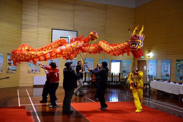 Ano novo chinês no Polo Sul, imagem de festa de Ano novo chinês no Polo Sul