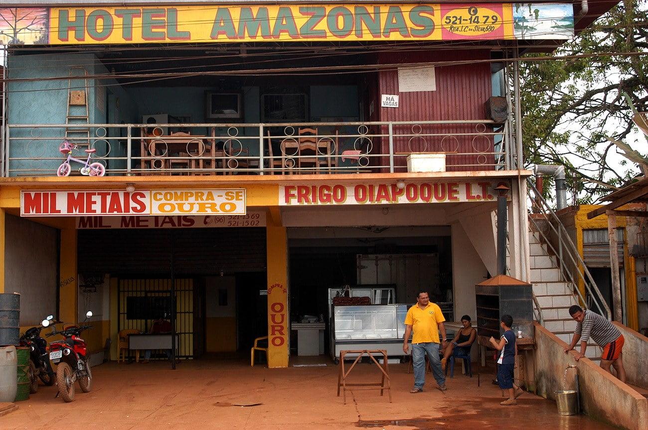 imagem do comércio no município do Oiapoque