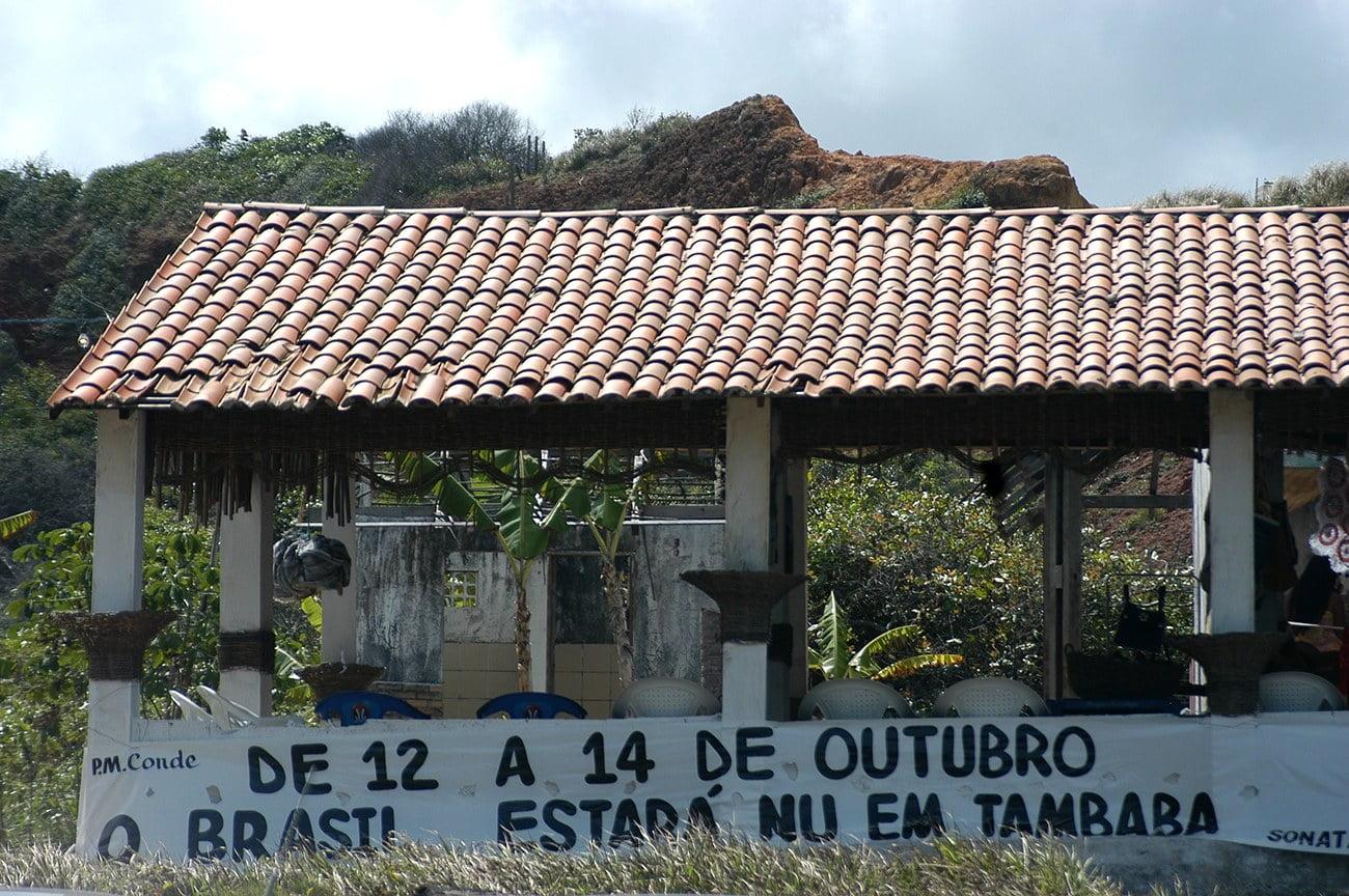 imagem de centro de nudismo em Tambaba, Paraíba.