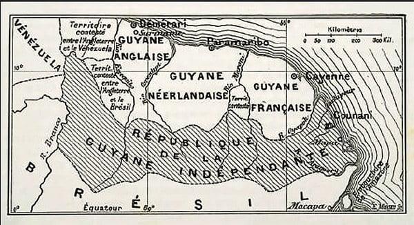 mapa alusivo à República do Cunany
