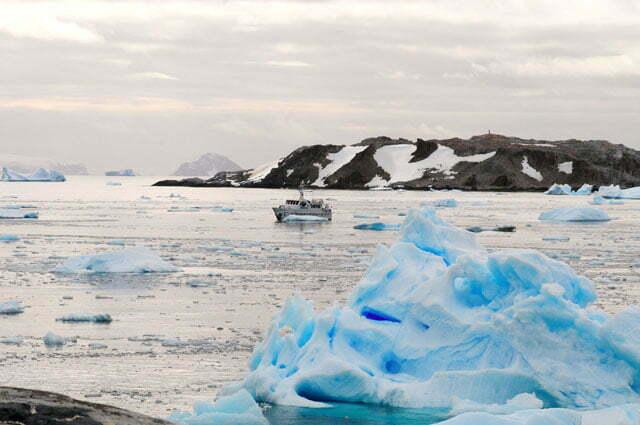 No meio do gelo...