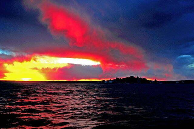 Por do sol na chegada a cabo Blanco
