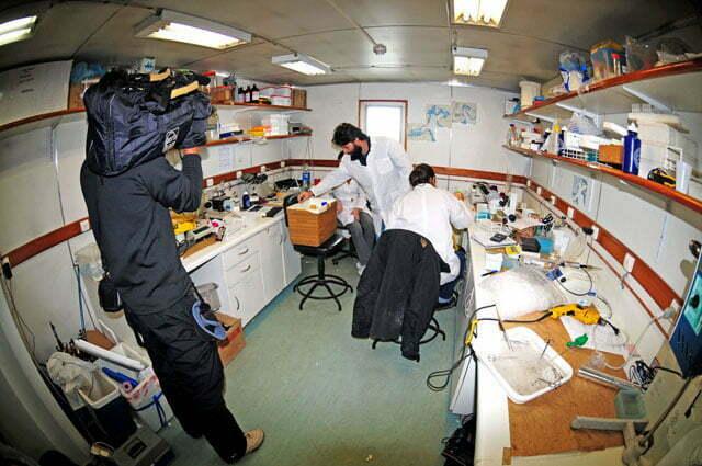 Um dos laboratórios Estação Científica Comandante Ferraz