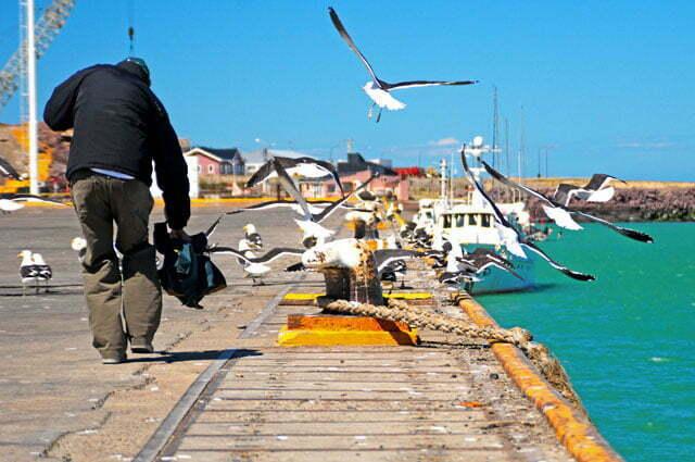 O cais de Puerto Deseado