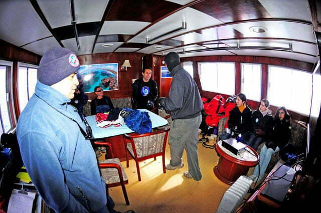 imagem do interior do barco mar sem fim