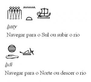 imagem de hieróglifo com barco à vela